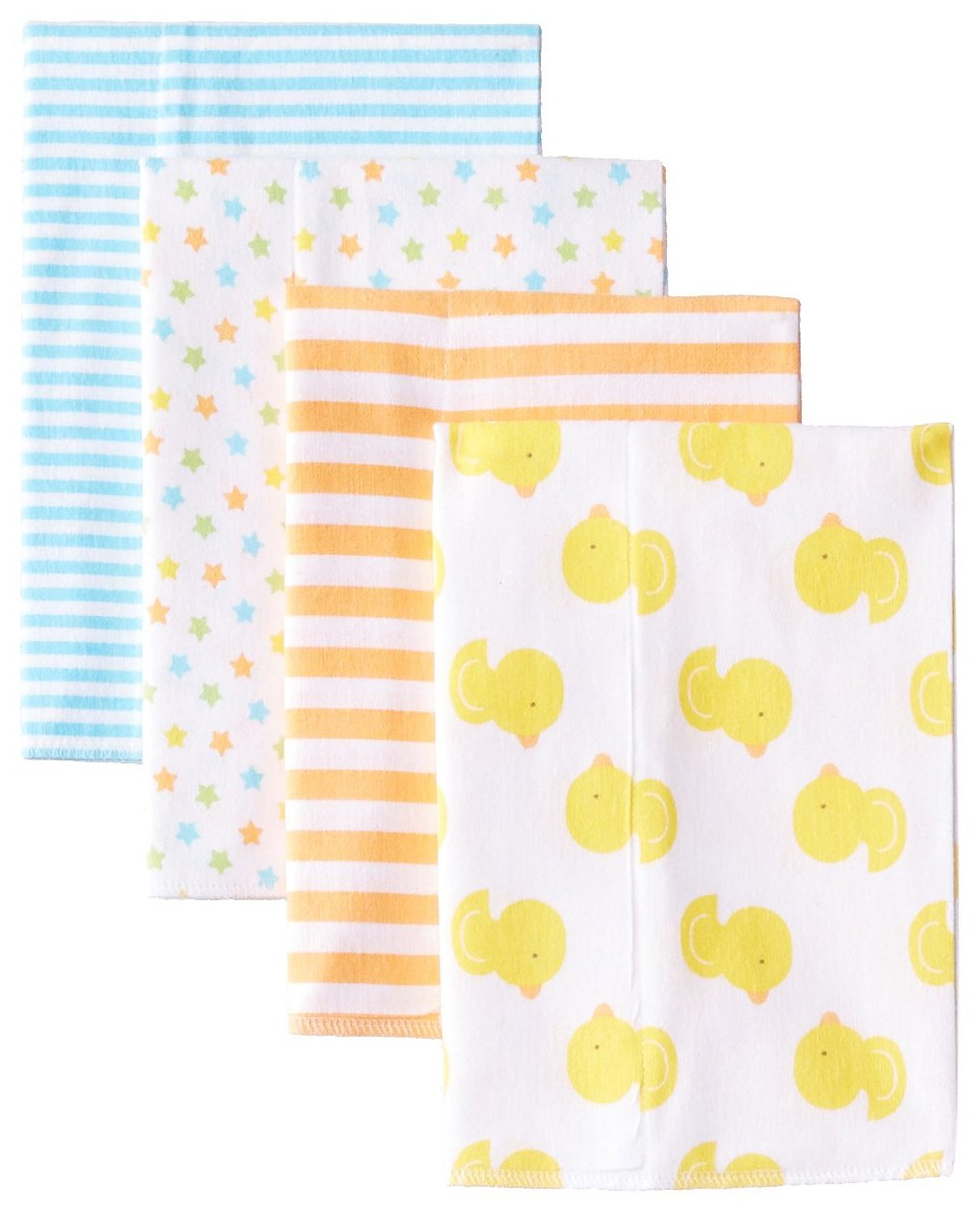 Gerber Unisex-Baby Newborn 4-Pack Flannel Burp Cloths - $8.79