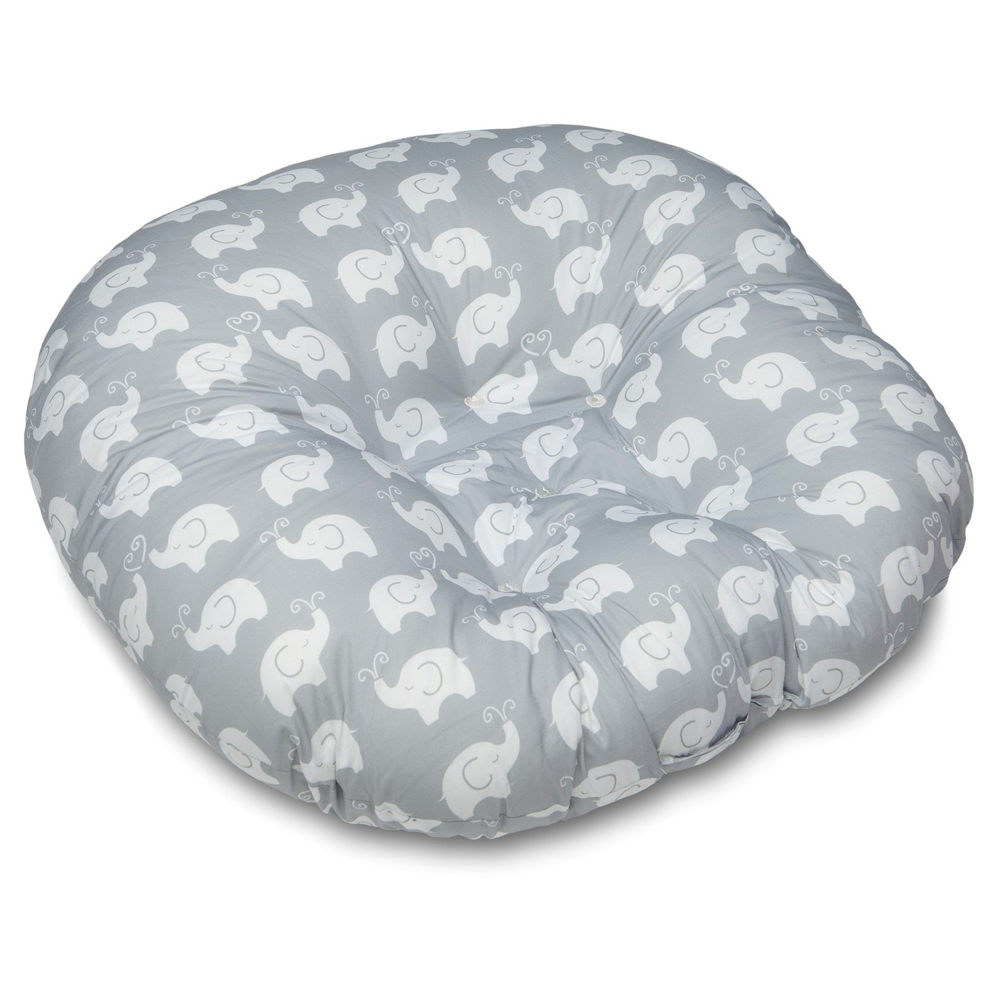 Newborn Lounger - Elephant Love Gray - $29.99