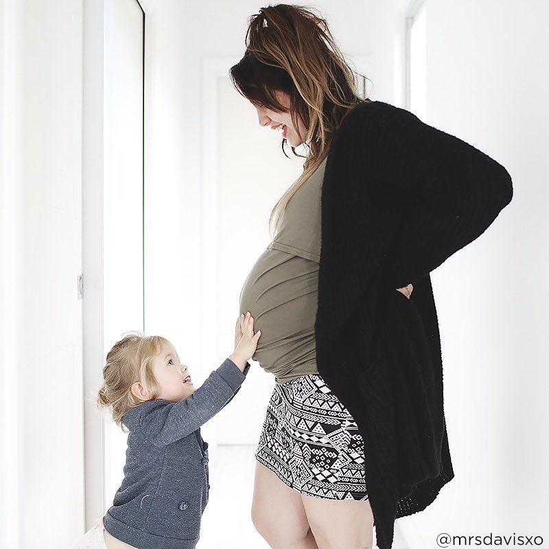 35 weeks pregnant bump mrsdavisxo