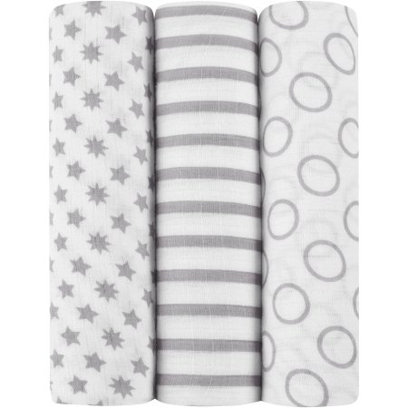 Ideal baby by the makers of aden + anais Muslin Swaddles, 3pk, Pint Size - $19.97