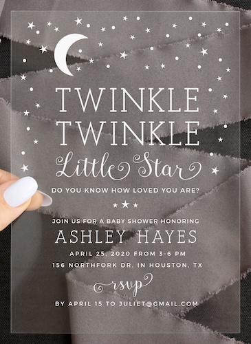 Basic Invite Clear Baby Shower Invitation