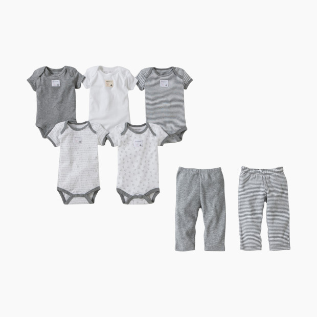 3f1df8749 Burt s Bees Baby Organic Short Sleeve Bodysuit   Pant Set - Heather Grey