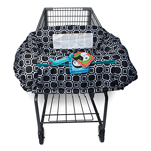 Shopping Cart and High Chair Cover - City Squares B&W - $29.99