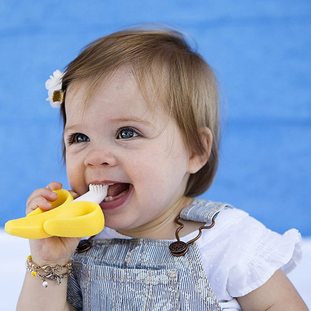 Baby Banana Teether Infant Training Toothbrush Babylist Store