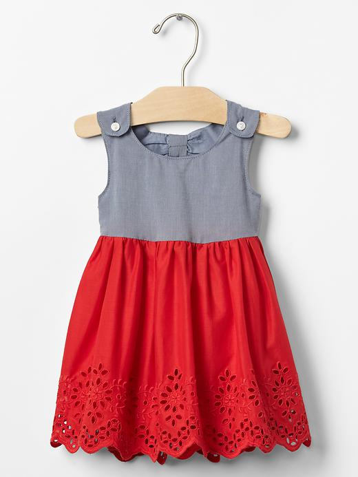 Open-Back Eyelet Dress - $39.95