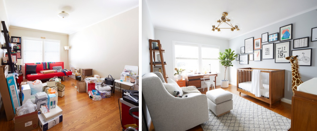 PBK Nursery Before and After Image