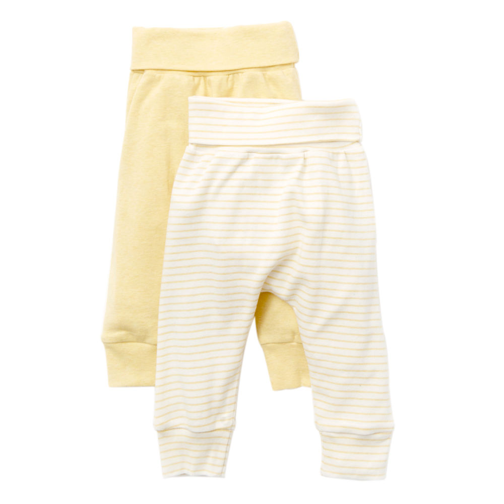 giggle Organic Cotton Baby Pants - Heathered 2-Pack - $32.00