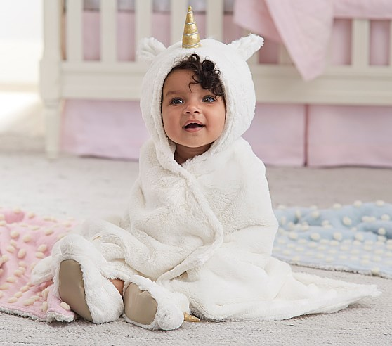 Nursery Fur Unicorn Bath Wrap - $42.50