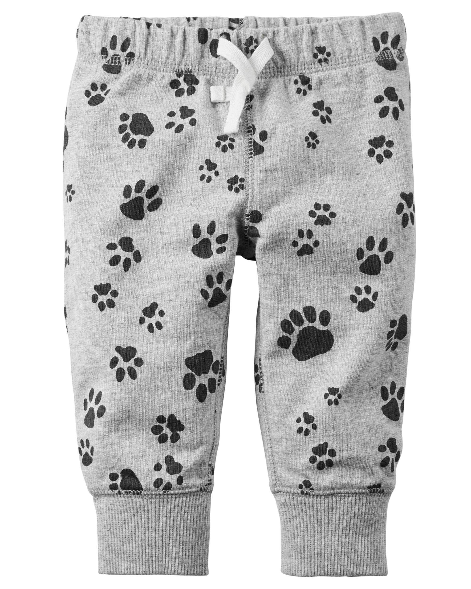 Pull-On French Terry Pants (Pawprint) - $7.00
