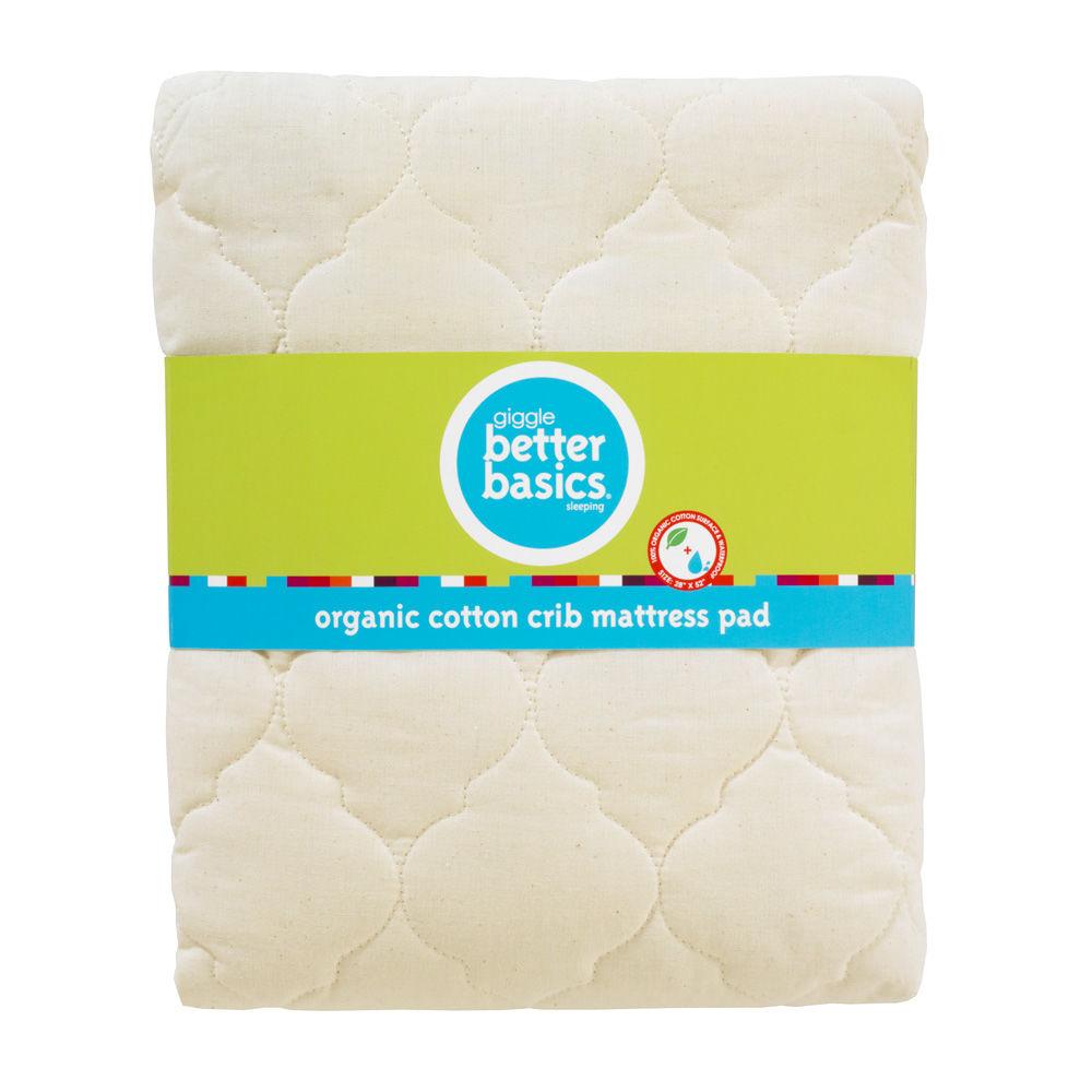 giggle Better Basics Organic Cotton Mattress Pad - $40.00