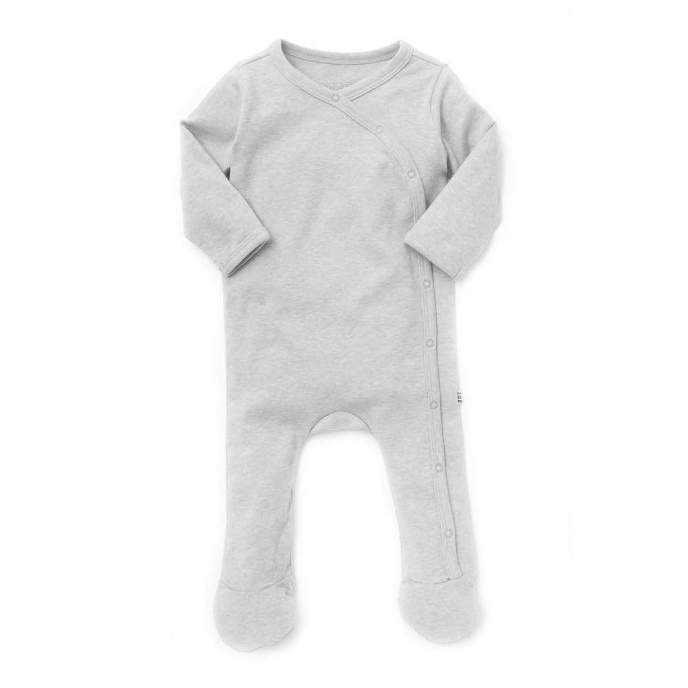 giggle Organic Cotton Baby Footie - Heathered - $30.00