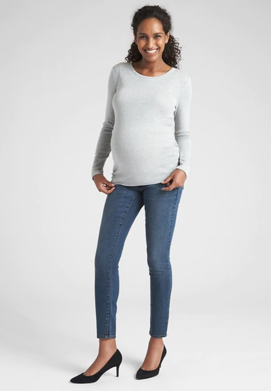 9586664b118 Gap Maternity Soft Wear Inset Panel True Skinny Jeans -  79.95