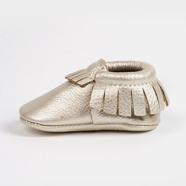 Soft Moccasins in Platinum - $60.00