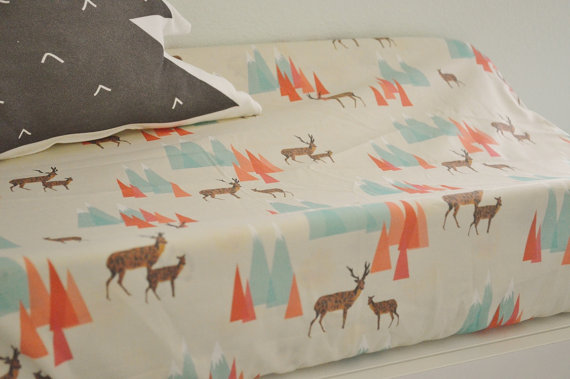 Deer in the Mountains Changing Pad Cover - $40.00
