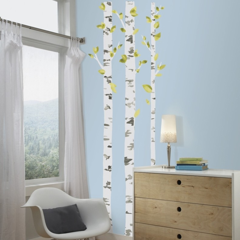 Birch Trees Wall Decals - $35.62 : roommate wall decals - www.pureclipart.com