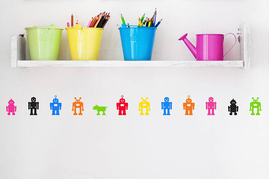 Pack of Robot Wall Stickers - $4.34