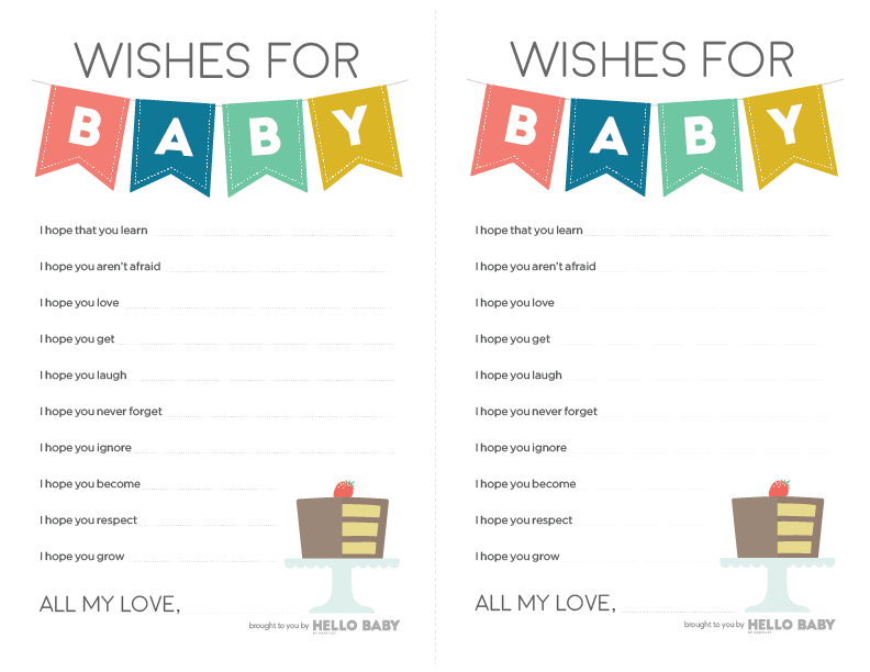 Baby Wish List Template