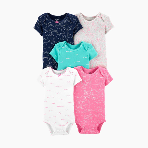 8026e0961 Carter's Short Sleeve Bodysuit (5 Pack)
