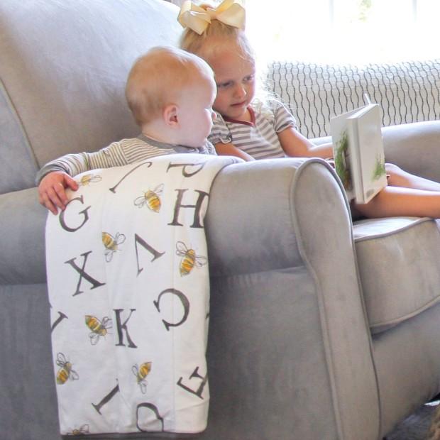 Burt S Bees Baby Reversible Organic Cotton Jersey Knit Blanket Babylist Store