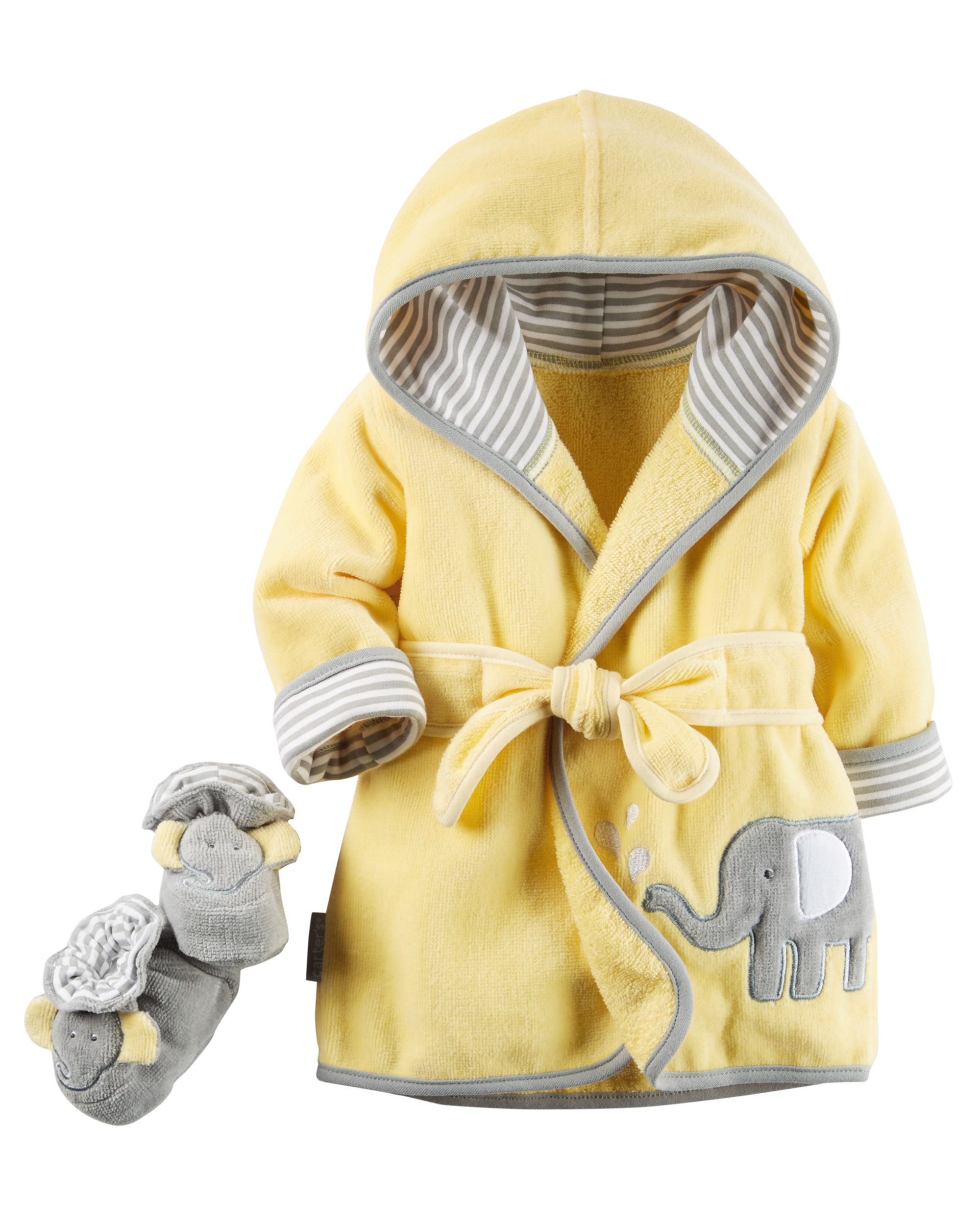 Hooded Robe and Bootie Set for Bathtime - $23.00