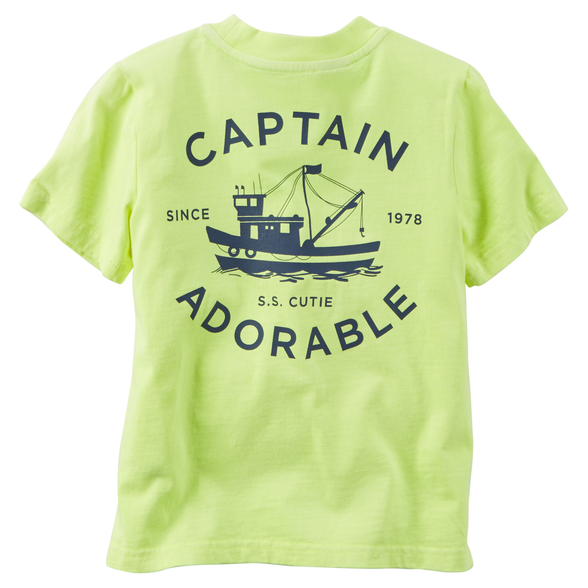 Front-and-Back Pocket Tee (Captain Adorable) - $7.00