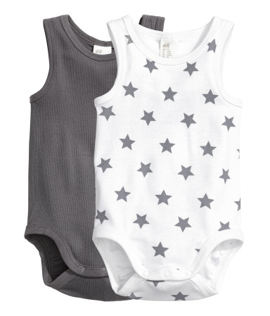 2-pack Sleeveless Bodysuits - $6.99