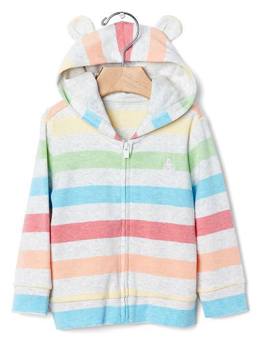 PersonaliTees Stripe Zip Bear Hoodie - $24.96