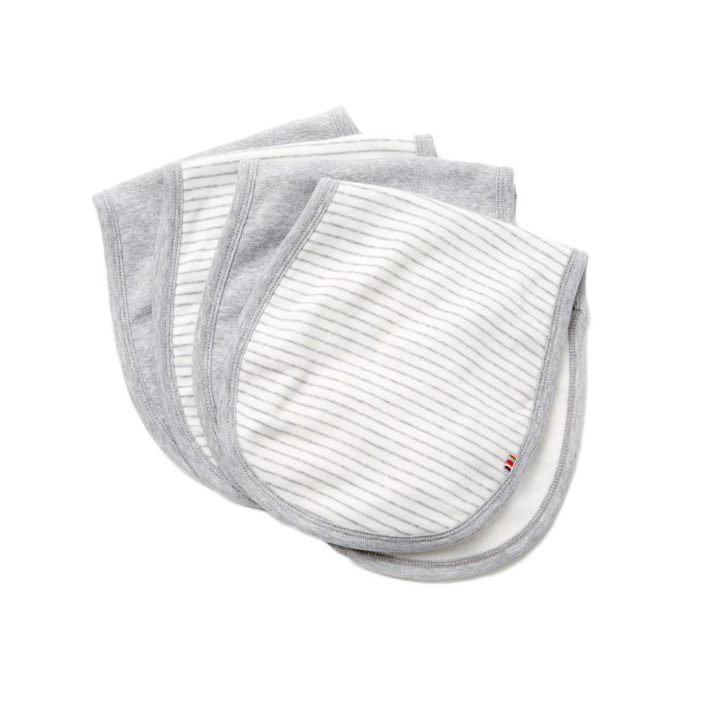 giggle Organic Cotton Baby Burp Cloth - Heathered 4-Pack - $28.00