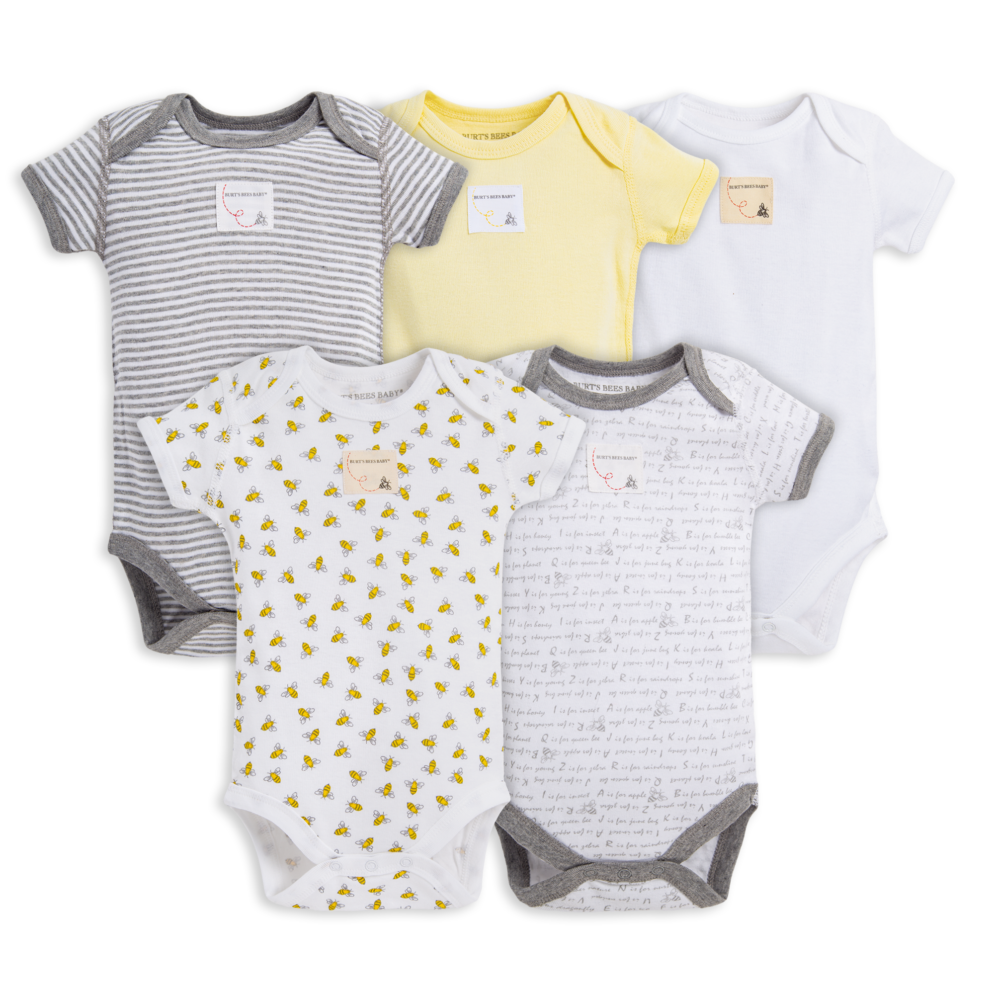 BabyGear Grow With Me 5 Baby Bodysuits // One-Pieces - 3-6 Mo 0-3 Mo; 2 3