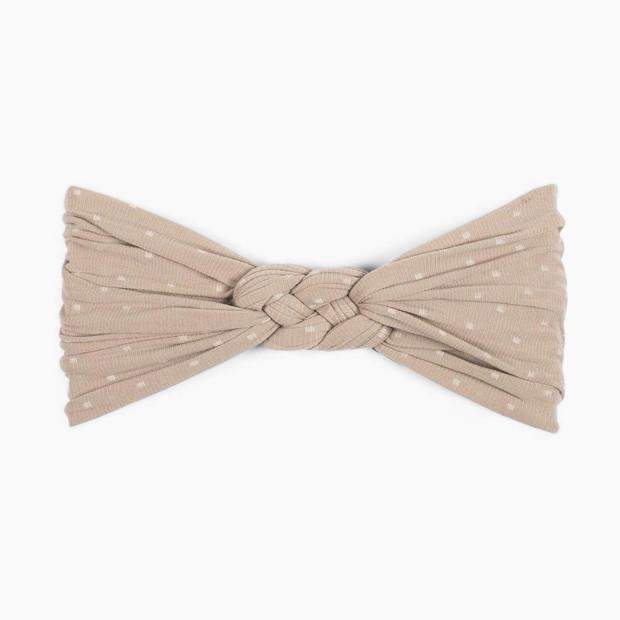 Baby Bling Sailor Knot Headband - Taupe Dot