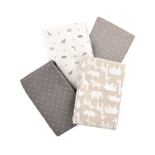 Carter's Flannel Receiving Blankets, Taupe Jungle/Grey - $24.96