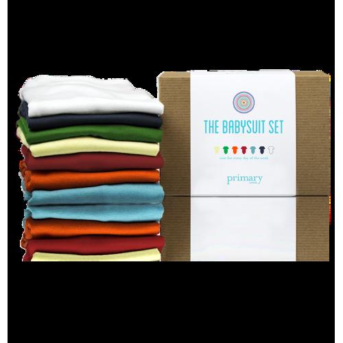 Primary Babysuit Set (7 onesies) - size 3-6 months - $50.00
