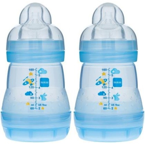 MAM Anti-Colic Bottle - Blue - 5 oz - 2 ct - $15.48