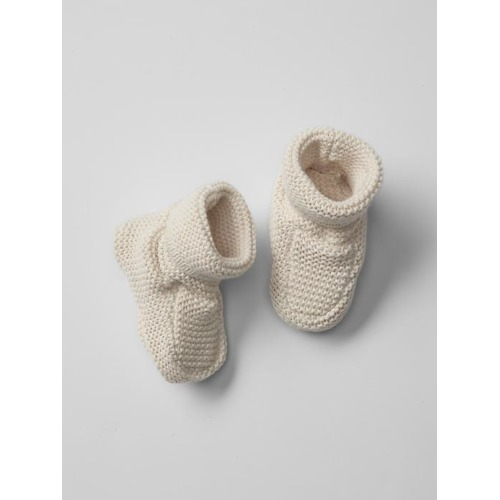 Knit Booties - French Vanilla - $24.95