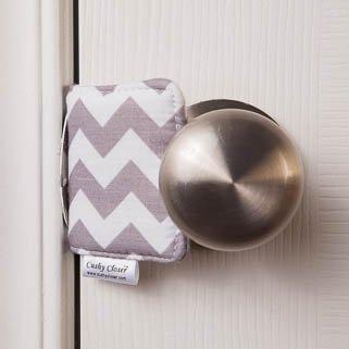 The Original Cushy Closer Door Cushion (Gray Chevron) - $10.95
