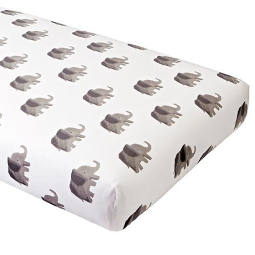 Organic Wild Excursion Elephant Crib Fitted Sheet - $20.40