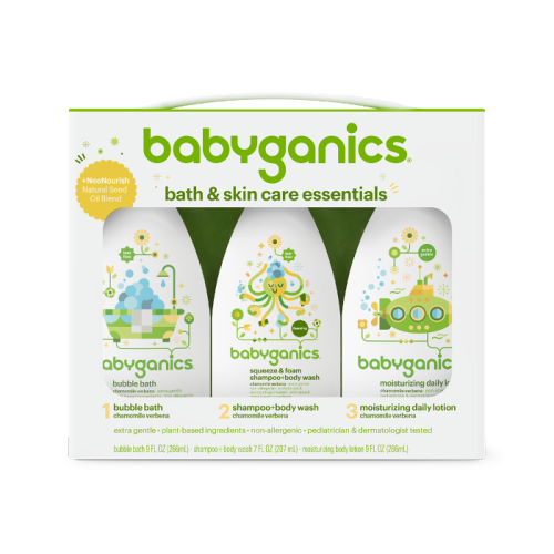 bath and skin care essentials | babyganics - $27.99