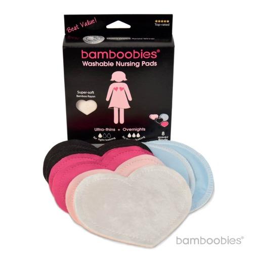 Multi-pack Bamboobies Nursing Pads (3 Pairs Regular + 1 Pair Overnight - $24.99