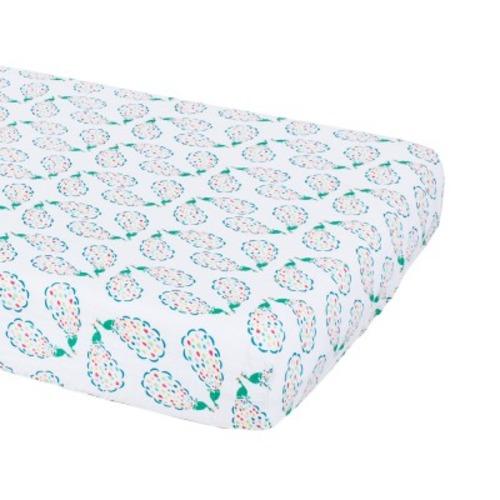 Bebe Au Lait Classic Muslin Crib Sheet - Peacocks - $30.00