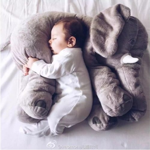 Wish | Fashion Baby Animal Elephant Style Placate Doll Stuffed Plush Pillow Kids Room Bed Decoration Toys - $15.00