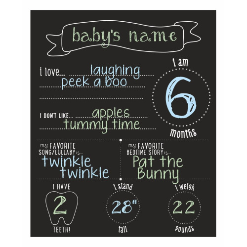 all about baby chalkboard – Pearhead - $24.95