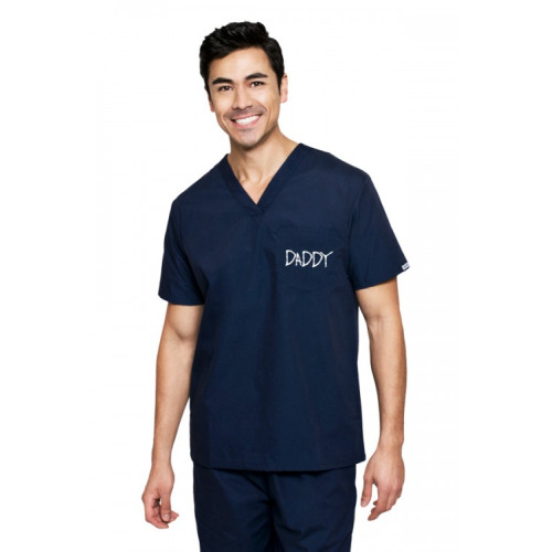 DaddyScrubs I'm the Daddy Classic Edgy Navy by Daddy & Co - DADDYSCRUBS - SHOP ALL - $54.95