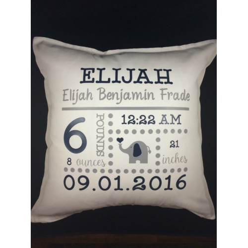 Birth Announcement Pillow Personalized Baby by SweetBerryGifts - $39.99
