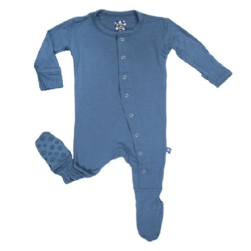 Basic Footies with Paws in Twilight - $32.00