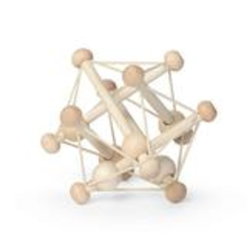 Skwish Natural Wood Rattle Teether Toy By Manhattan Toy  - $17.00