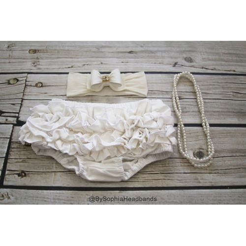 Baby Bloomers in Ivory - $14.95