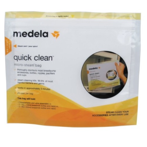 Medela Quick Clean Micro-Steam Bags, 5 Count - $4.69