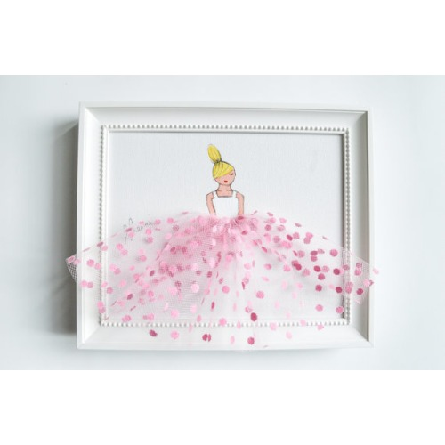Little Princess in Pink Polkadot Tulle - $33.00