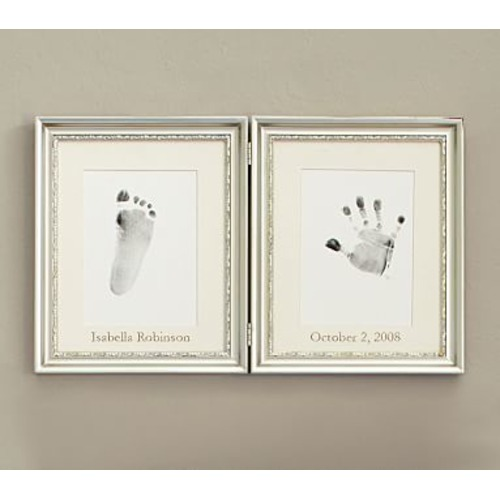 Silver Leaf Handprint & Footprint Frame - $52.00