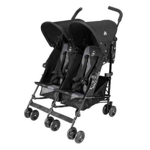 Maclaren Twin Triumph - Black/Charcoal - $259.99